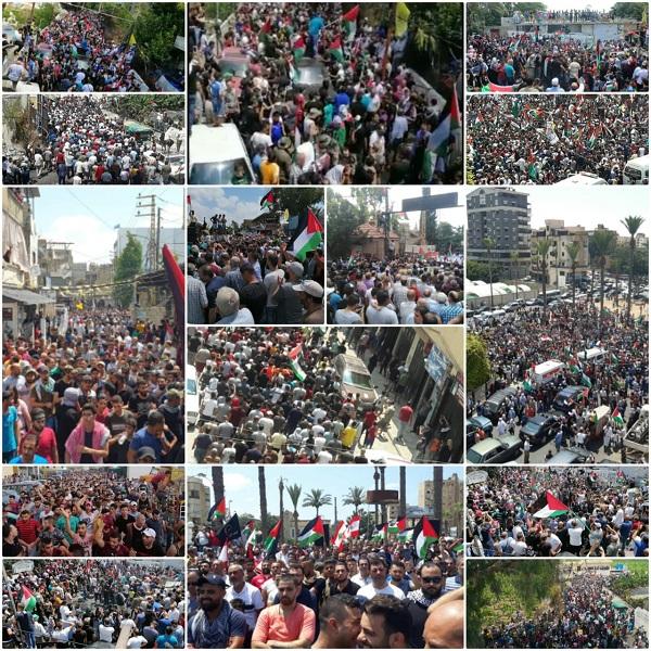 توسع احتجاجات الفلسطينيين بلبنان في «جمعة الغضب»